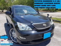 2004 TOYOTA HARRIER 240G L PACKAGE SUNROOF  FULL LEATHER SEATS SPORT RIMS VVTI ENGINE SUV CAR