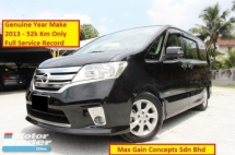 2013 NISSAN SERENA 2.0 (A) S Hybrid Highway Star (Ori Year Nake 2013)(Full Service Records 57k Km Only)(Loan 9 Years)