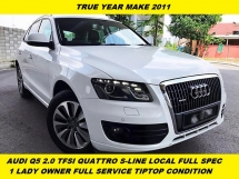 2011 AUDI Q5 2.0 TFSI QUATTRO  FACELIFT  P/BOOT P/START K/LESSS 8 SPEED TIP TOP ONE MALAY LADY OWNE