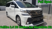 2017 TOYOTA VELLFIRE 2.5 ZG Golden Eyes Modellista Kit Ori 14K Km Mileage Japan Highest Version Alcantara Seat Pilot Seat Power Boot Any Many Worth Buy
