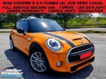 2014 MINI Cooper S 2.0 TURBO (A) HATCHBACK JCW F.S.R UNDER WARRANTY LED DAYLIGHT NAVIGATION PADDLE SHIFT I-DRIVE