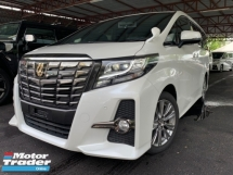 2017 TOYOTA ALPHARD 2.5 TYPE BLACK 2 POWER DOOR AND BOOT HALF LEATHER BIG ALPINE PLAYER UNREG