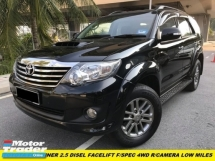 2014 TOYOTA FORTUNER 2.5G  DIESEL FACELIFT BLACK INTERIOR REVERSE CAMERA 10 INCH TV PLAYER NO OFF ROAD CAR NORMALLY USED