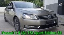 2013 VOLKSWAGEN PASSAT B7 1.8 TSI Sport Edition Ori Condition Never Accident Never Modified Really Keep Like New Car Condition Worth Buy