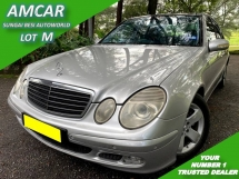 2003 MERCEDES-BENZ E-CLASS E200 KOMPRESSOR AVANTGARDE 1.8 (A) PANORAMIC