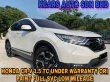 2017 HONDA CR-V 1.5 TC ACTUAL YR MAKE UNDER WARRANTY ORI PAINT LOW MILEAGE
