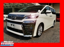 2018 TOYOTA VELLFIRE 2.5ZA WITH SUNROOF N FREE LOCAL PLAYER - UNREG - READY TO VIEW