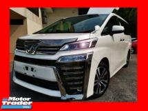 2018 TOYOTA VELLFIRE 2.5ZG SUNROOF/LEATHER SEAT/UNREG - READY TO VIEW