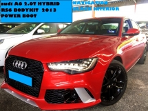 2013 AUDI A6 2.0 HYBRID RS6 BODYKIT SUNROOF POWER BOOT NAVIGATION BLACK INTERIOR BOSE