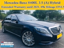 2015 MERCEDES-BENZ S-CLASS S400L 3.5 (A) Hybrid Extended Warranty Full Service 49k Mileage