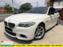 2013 BMW 5 SERIES 528I 2.0 M-SPORTS LOCAL SPEC TWIN TURBO 7 SPEED TIPTRONIC KEYLESS PUSH START