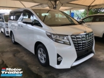 2015 TOYOTA ALPHARD Unreg Toyota Alphard X Spec 8seather 360view PowerBoot Push Start 7G
