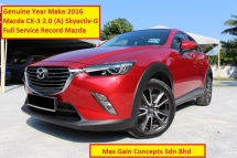 2016 MAZDA CX-3 2.0 (A) Skyactiv G (Ori Year Make 2016)(Full Servicve Record)(1 Owner)(Loan Up To 9 Yrs)