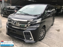 2016 TOYOTA VELLFIRE 2.5 ZG BIG ALPINE PLAYER  AND MONITOR PILOT SEATS 2 POWER DOOR AND BOOT UNREG