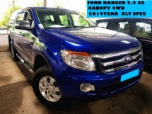 2014 FORD RANGER 2.2 XLT 4WD 4X4 CANOPY  GOOD CONDITION CAR PRICE CAN NEGO