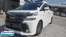 2017 TOYOTA VELLFIRE 2.5 Z S/Roof P/Boot 4Cam Unreg 1 YEAR WARRANTY