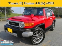 2012 TOYOTA FJ CRUISER 4.0 (A) 4WD Off Road Full Leather Seats Reverse Cam