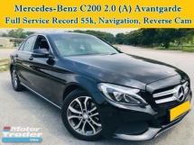 2016 MERCEDES-BENZ C-CLASS C200 2.0 (A) Avantgarde Full Service W205 Navigation