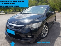 2009 HONDA CIVIC 2.0 FD FACELIFT MODEL FULL LEATHER SEAT WARRANTY ONE YEAR FREE  BODYKIT