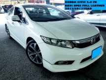2012 HONDA CIVIC 2.0 (A) NAVI SPEC FULL LEATHER SEATS POWER SEAT PUSH START FULL BODYKIT