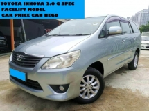 2012 TOYOTA INNOVA 2.O  G SPEC MPV CAR WARRANTY ONE YEAR