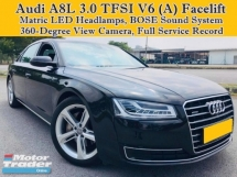 2015 AUDI A8 A8L 3.0 V6 TFSI (A) Quattro Facelift BOSE Sound System Matrix LED Headlamps