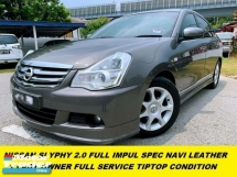 2014 NISSAN SYLPHY 2.0L X-CVT LUXURY NAVI LEATHER SEAT IMPUL KITS TIPTOP CONDITION