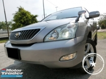 2006 TOYOTA HARRIER 240G PREMIUM L PACKAGE/1 OWNER/WEEKEND CAR/POWER BOOT/ELETRONIC SEAT/PANAROMIC ROOF
