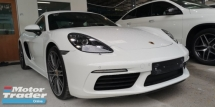 2017 PORSCHE 718 CAYMAN 2.0 / NEW FACELIFT / ORIGINAL MILEAGE NO TAPPED / READY STOCK NO NEED WAIT