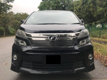 2012 TOYOTA VELLFIRE 2.4 (A) Z PLATINUM - REGISTERED 2015 ( SUPERB CONDITION )