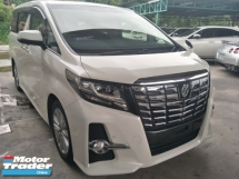 2015 TOYOTA ALPHARD 2.5 SA JBL SURROUND SOUND SYSTEM SUNROOF 360 SURROUND CAMERA  POWER BOOT PRE CRASH STOP SYSTEM