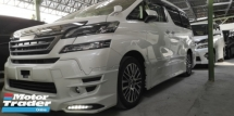 2015 TOYOTA VELLFIRE ZG 2.5CC / SUNROOF / FULL SET TRD JAPAN BODY KITS / READY STOCK NO NEED WAIT / TIPTOP CONDITION FROM