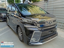 2017 TOYOTA VELLFIRE 2.5 ZG EDITION JBL AUDIO HOME THEATER SUNROOF SURROUNDING CAMERA PRE CRASH FULL LEATHER ROOF MONITOR (A) OFFER UNREG