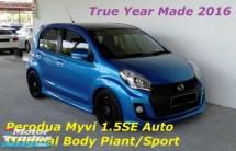 2016 PERODUA MYVI 1.5 SE Auto Facelift Sport Model