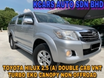2013 TOYOTA HILUX DOUBLE CAB 2.5G (AT) EKO CANOPY