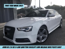 2012 AUDI A5 2.0 TFSI QUATTRO FACELIFT LOW MILEAGE ONE OWNER NICE PLATE 5007