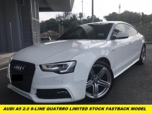 2012 AUDI A5 2.0 TFSI QUATTRO LIMITED FASTBACK MODEL LOCAL SPEC ONE LADY OWNER BEFORE ORIGINAL PAINT SUPER TIP TOP CONDITION