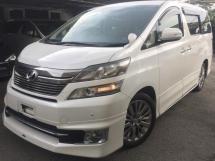 2013 TOYOTA VELLFIRE Unregistered (2013/White) Toyota Vellfire 2.4 WELCAB, Facelift Model.