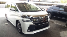 2016 TOYOTA VELLFIRE Unregistered (2016/White) Toyota Vellfire 2.5 ZG (BASIC SPEC) With Pre-Crash.