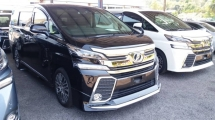2016 TOYOTA VELLFIRE Unregistered (2016/Black) Toyota Vellfire 2.5 ZG (BASIC SPEC) with Japan Front & Side Modellista Bodykit