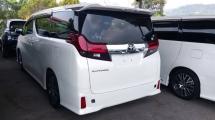 2016 TOYOTA ALPHARD Unregistered Toyota Alphard 2.5 SC (White/2016) Basic spec with PCS, Leather & Alpine Set.