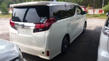 2015 TOYOTA ALPHARD Unregistered Toyota Alphard 2.5 SC (White/2015) Premium Spec  with JBL, PCS & 4 Cams.