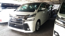 2015 TOYOTA VELLFIRE Unregistered (2015/White) Toyota Vellfire 2.5 Z Spec (WELCAB Package)