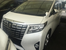 2015 TOYOTA ALPHARD Unregistered 2015 Toyota Alphard 2.5 (WELCAB)