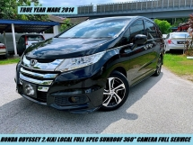 2014 HONDA ODYSSEY PREMIUM FULL SPEC LOCAL DUAL POWER DOOR LUXURY MPV