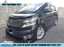 2011 TOYOTA VELLFIRE 3.5 VL BLACK EDITION FACELIFT F/SPEC PILOT SEAT 2POWER DOOR P/BOAT S/ROOF NICE PLATE 3131