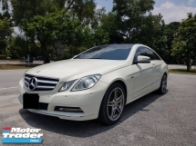 2011 MERCEDES-BENZ E-CLASS E250 CGI BLUE EFFICIENCY COUPE
