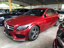 2015 MERCEDES-BENZ C-CLASS C200 AMG Sport 2.0 Turbocharged 211hp Memory Bucket Seat Collision Prevention Assist Distronic PLUS Intelligent LED Smart Entry Paddle Shift Steering Bluetooth Connectivity Unreg