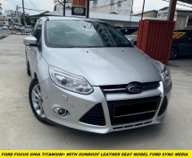 2015 FORD FOCUS 2.0 GHIA SEDAN TITANIUM+ WITH SUNROOF LEATHER SEAT DURATEC POWER SHIFT 6 SPEED FACELIFT MODEL