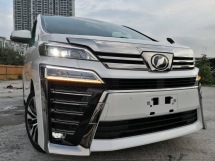 2018 TOYOTA VELLFIRE 2.5ZG NEW FACELIFT SUNROOF FULL LEATHER 3 LED HEADLAMP PRE CRASH UNREG 2018